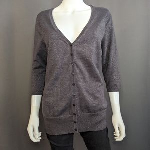 Maurices Sparkly Charcoal Gray Sweater Siz…